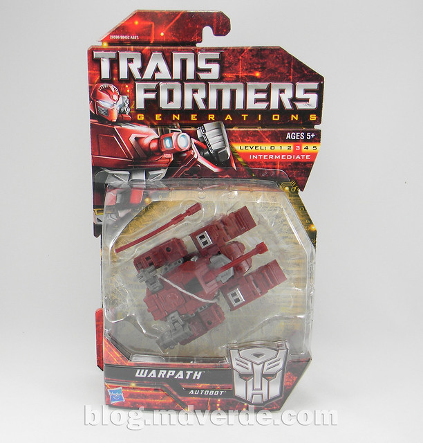 Transformers Warpath Generations Deluxe - caja