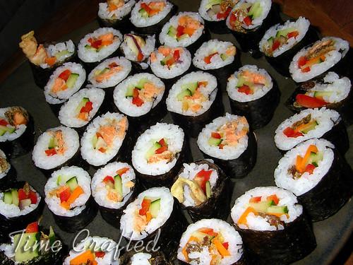 Salmon Tempura & Salmon Skin Sushi
