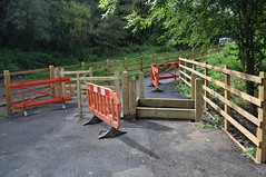Five Arches Greenway Construction - Day 212 (WestfieldWanderer) Tags: geotagged barrier cyclepath radstock midsomernorton 5archesgreenway geo:lat=51290730400458855 geo:lon=2462241418540998
