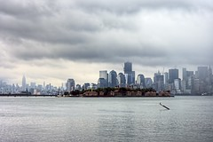 New York City / Ellis Island, Hurricane Irene 2011 (mudpig) Tags: nyc newyorkcity light cloud ny newyork storm reflection bird rain skyline newjersey construction nikon jerseycity cityscape hurricane worldtradecenter nj financialdistrict batterypark esb hudsonriver empirestatebuilding thunderstorm wtc irene gothamist chryslerbuilding hdr batteryparkcity worldtrade ellisisland wfc d300 freedomtower mudpig stevekelley hurricaneirene 1worldtrade oneworldtradecenter stevenkelley worldtradeone worldtrade1 worldtradecenterprogress