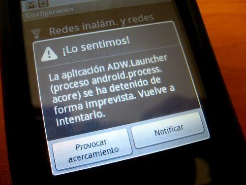 Error de la aplicación