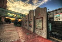 Roanoke Bridge [HDR] (Hussain Shah.) Tags: bridge usa train d50 virginia nikon sigma rail railway roanoke 1020mm hdr shah hussain