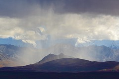 Denali Rainshower - Alaska -  Mountains (blmiers2) Tags: travel blue autumn white mountain snow mountains fall nature alaska clouds landscape photography nikon explore denali 2011 d3100 denalirainshower blm18 blmiers2
