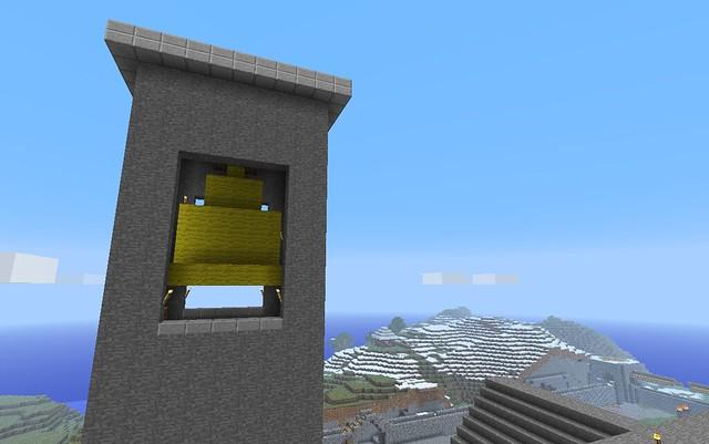 La tour achevée et sa cloche