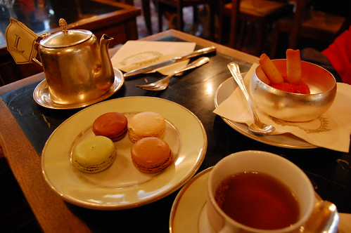 Macarons and sorbet at Laduree