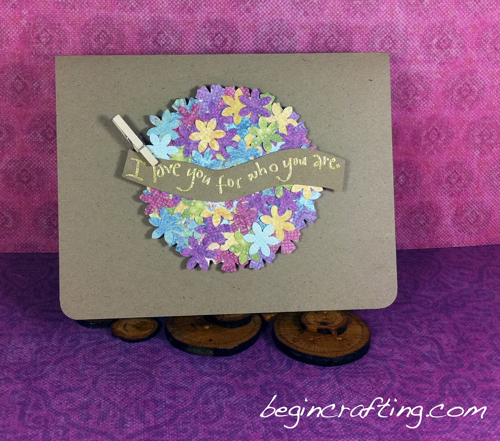 Flowered Circle Friend Card