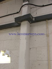 Asbestos Board factory steelwork fire protection cladding (bfg695) Tags: fire board insulation protection asbestos steelwork
