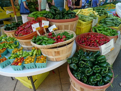 Produce and Peppers for Sale