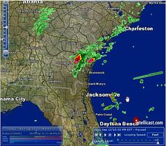 9/11/11 10:30 PM EST - Georgia Ring and Beam Near Jacksonville, FL (little_fluffy_clouds) Tags: georgia florida ring beam radar severeweather anomaly anomalies jacksonvile scalarsquares
