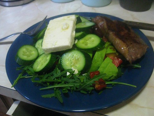 Steak and Salad nom