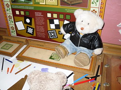 Ted and Nobby at Castell Coch, South Wales (pefkosmad) Tags: cute castle history wales bears gothic victorian plush explore fantasy teddybear plushie teddies dayout castellcoch nobbynomates tedricstudmuffin