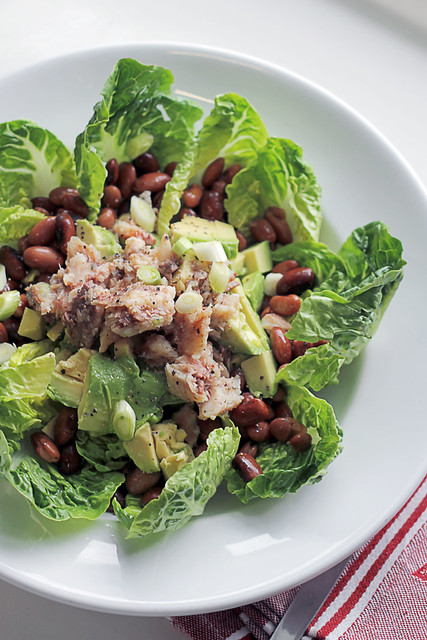 Pinto Beans, Avocado and Sardines