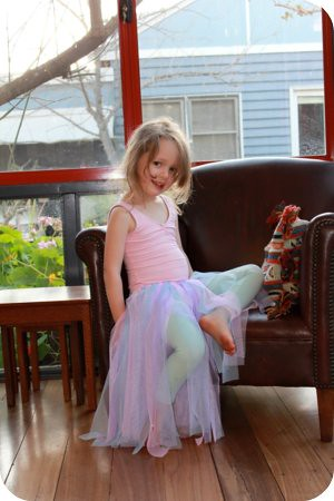 sophie in no-sew tutu