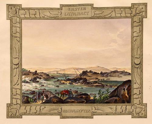 008-Primera catarata en el Alto Egipto-Malerische Ansichten aus dem Orient-1839-1840- Heinrich von Mayr-© Bayerische Staatsbibliothek