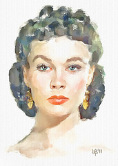 Gone with the wind (piker77) Tags: portrait woman painterly celebrity art beauty face digital photoshop watercolor painting nice interesting media pretty natural retrato aquarelle digitale manipulation simulation peinture illusion virtual lee actress watercolour movies transparent acuarela tablet technique wacom ritratto stylized vivien pintura portre  imitation  aquarela aquarell emulation malerei pittura virtuale virtuel naturalmedia bildnis    piker77wc arthystorybrush