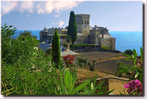 Monastery of Stavronikita ... HDR