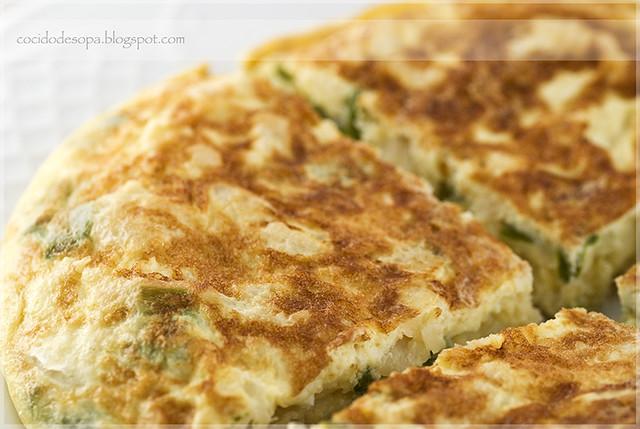 Tortillla bacalao y pimiento verde_2