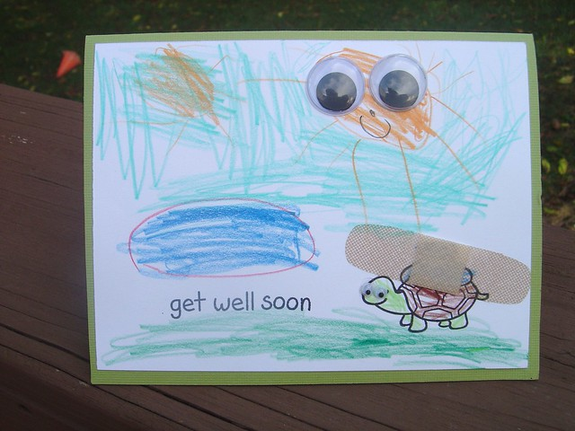 Alex's (age 6) get well card