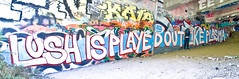 Lush Is Played Out Like Plasma (TheHarshTruthOfTheCameraEye) Tags: dan out graffiti oakland is like plasma lush played