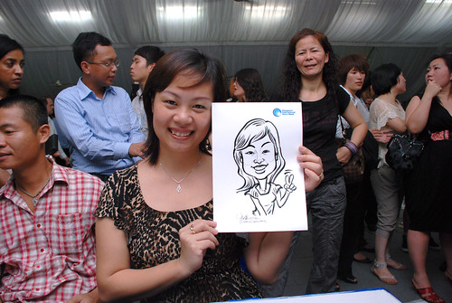 caricature live sketching for Singapore International Water Week Closing Dinner - 20
