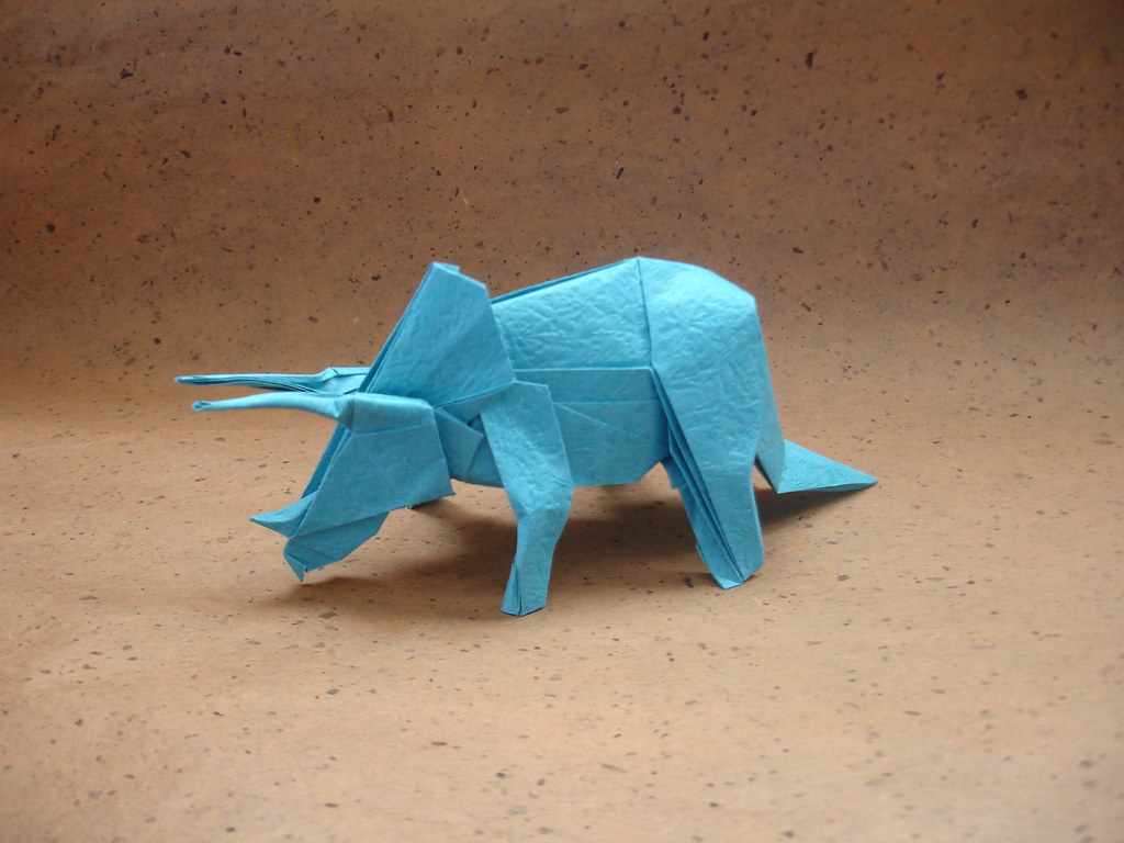 The worlds best photos of origami and triceratops flickr hive mind etsy account oh and a triceratops shukikato tags paper origami dinosaur jeuxipadfo Choice Image