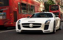 Gullstream (tWm.) Tags: fab white london car mercedes benz design nikon stream body thomas gull wide super mein arabic arab nikkor supercar f4 sls amg qatar widebody 24120 qatari gullstream d7000