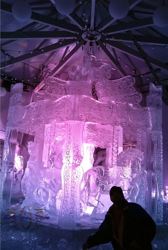 Carroussel at Carnaval de Quebec Ice Sculpture
