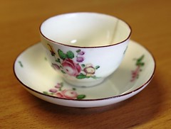 A rare Derby Polychrome Miniature Tea Cup and Saucer c1770 (Enlightenment!) Tags: