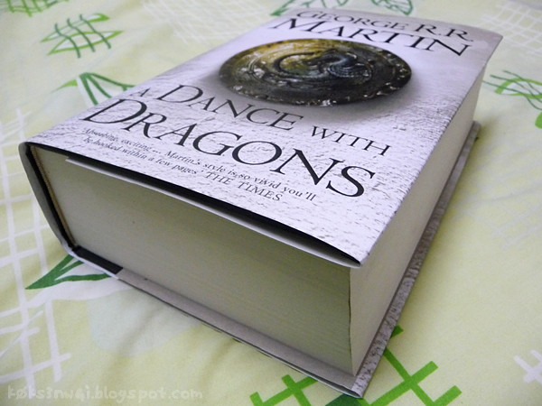 My Hardcover Copy of a Dance with Dragons