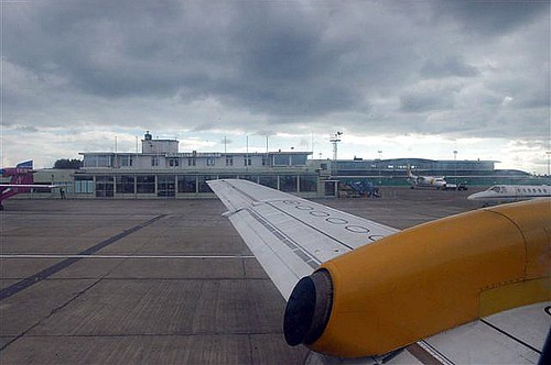 the bright yellow flat disc shapes,  twice the size of Boeing 737, were spotted by Aurigny pilot