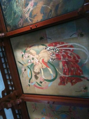 浅草寺の天井画。きれいだね〜。