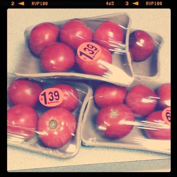 Organic tomatoes on markdown = fresh salsa this week!