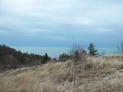 Kemil Beach Trail - Summit - Lake (Zoesdare) Tags: statepark sky nature clouds sand dunes indiana lakemichigan kemilbeach dunesnationallakeshore