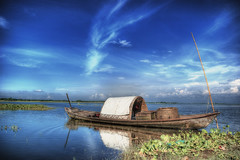 Somewhere I want to go back.. (octa_rayan) Tags: blue sky cloud color reflection nature water colors clouds river landscape boat asia pentax bangladesh riverscape greatphotographers narayanganj colorphotoaward k200d pentaxart barodi pipexcellence artistoftheyearlevel3 artistoftheyearlevel4