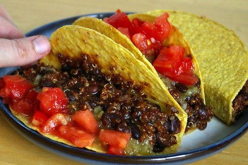 quinoa and black beans vegan tacos