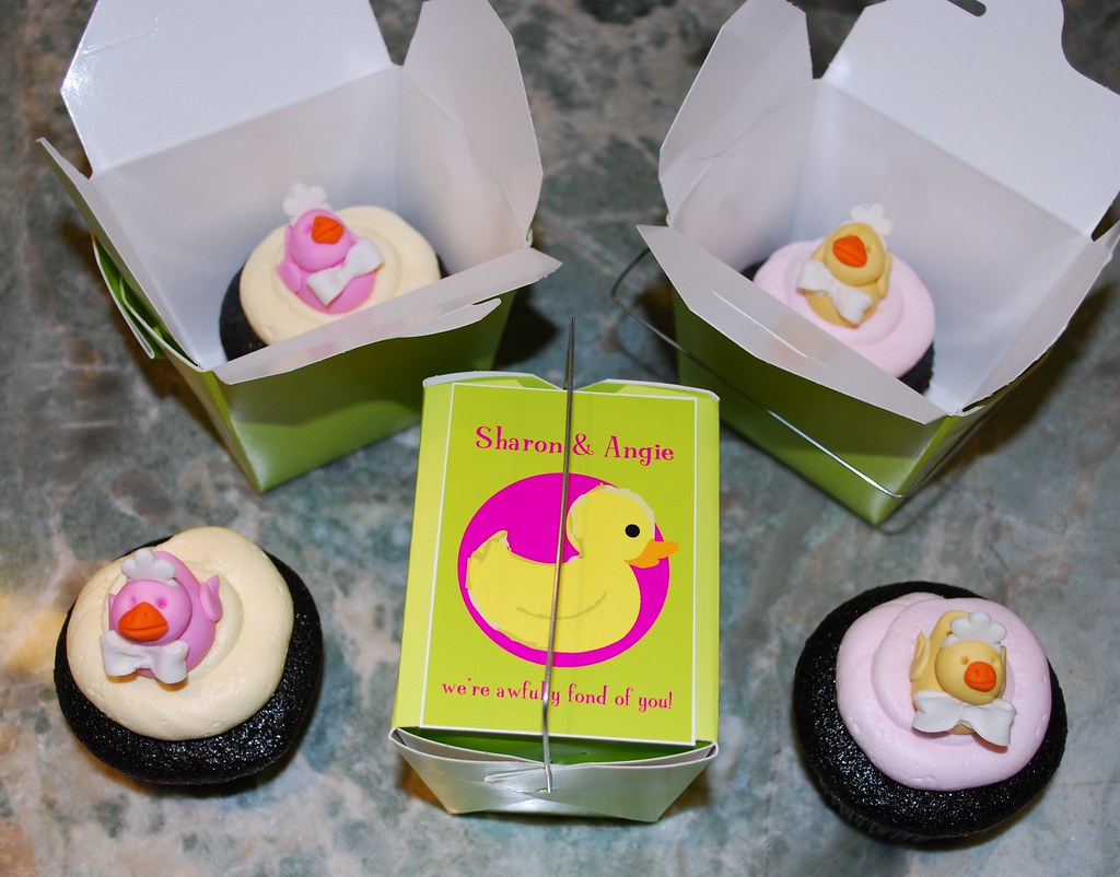 Ducky Cupcakes  & Gift Boxes