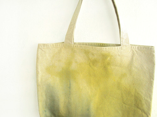 green [detail] texture tote