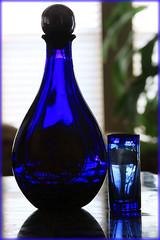 deep blue.....    tequila (Baja Juan) Tags: blue bottle texas tequila shooter htt