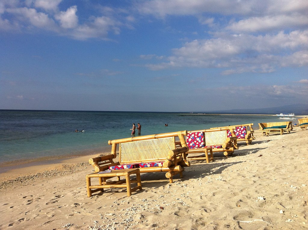Seats with your name on them, Gili Air, Lombok, Indonesia