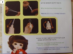 restring reencordado LATI YELLOW 2 (Mitilene - Dolls are good!) Tags: yellow string tutorial restring lati reencordado