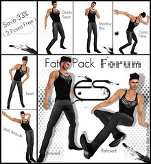 *ES* FAT PACK-Forum (Essential Soul Studio) Tags: world life summer male fashion female pose stand photo couple modeling fat forum dean couples sl pack secondlife virtual solo soul essential second steven es runaway maeve mode couture strom poses essentialsoul