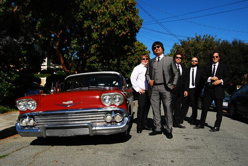 Groomsmen and Chevy