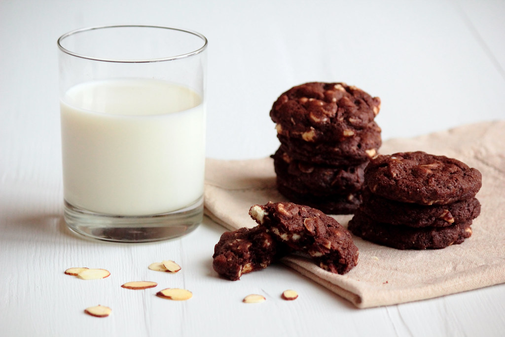 Rocky Road Cookies with Almonds and White Chocolate Chips