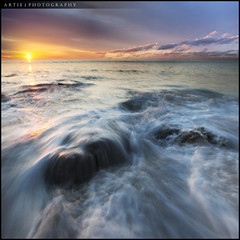 Drenched! :: 0.6H GND + 0.6 ND Pro Glass Lee Filters :: Vertorama (:: Artie | Photography :: Travel ~ Oct) Tags: sunset sea seascape reflection beach water photoshop canon landscape landscapes movement rocks tripod australia wideangle lee nd adelaide filters southaustralia ef 1740mm artie cs3 f4l leefilter wilunga vertorama 5dmarkii portwilunga 5dm2 06h
