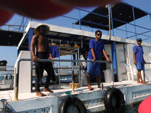 Sea Walker ダイビングポイントへ