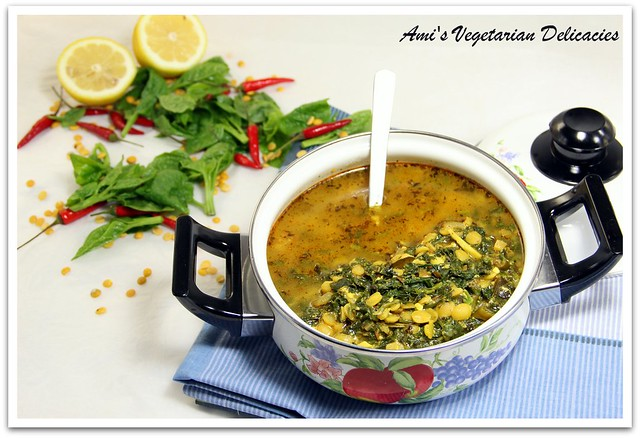 Spinach & Yellow Split pea Soup