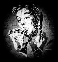 Holga Ogden (Colour Blind Bob) Tags: street portrait art mobile manchester tv holga phone jean head mosaic cell smoking desire granada hd alexander rollers vignette android app scarfe pinny hilda htc curlers hogden affleks colourblindbob