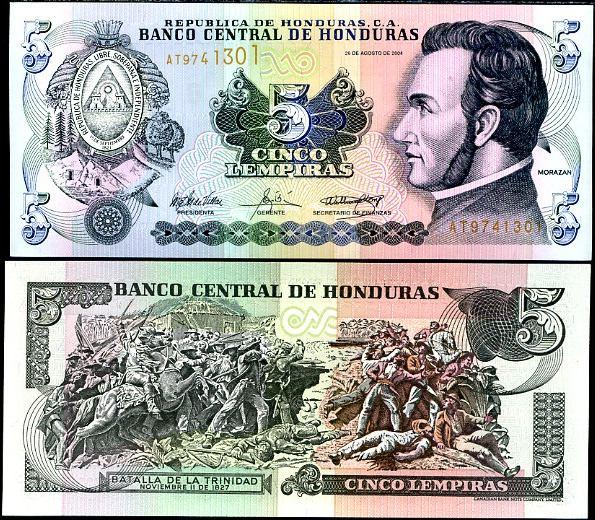5 Lempiras Honduras 2004, Pick 85d