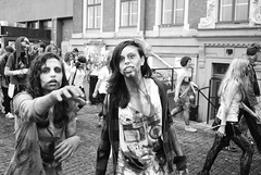 Stockholm zombie walk 2011 (Sean Lewthwaite) Tags: people flesh walking blood sweden stockholm zombie walk heads munching livingdead