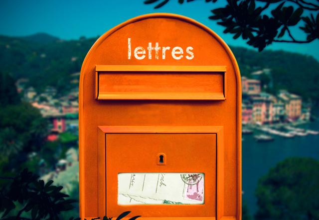 Hermes mailbox, hermes orange, lettres from hermes